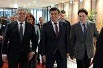 Президент Сооронбай Жээнбеков Европарламенттин төрагасы Антонио Таяни менен жолукту