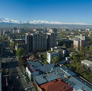 Вид с дрона на жилые дома в Бишкеке. Архивное фото