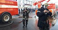 Крупный пожар на территории Ошского рынка в Бишкеке