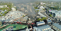 Что осталось после пожара на Ошском рынке — аэросъемка