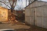 Гаражи в микрорайоне Восток-5 в Бишкеке, которые сносятся в рамках реконструкции улицы Торокула Айтматова