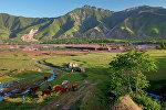 Долина реки Вахш в Таджикистане. Архивное фото