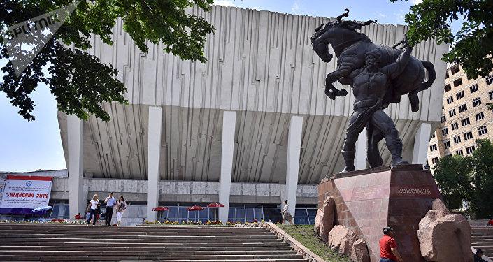 Кожомкул атындагы спорт ордосу. Архивное фото