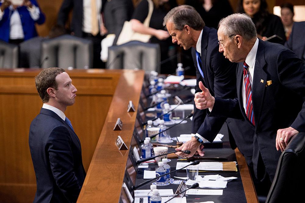 Показания Марка Цукерберга на открытых слушаниях в конгрессе США.