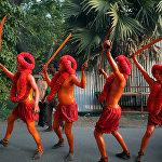 Бангладеште өткөн Lal Kach фестивалынын катышуучулары