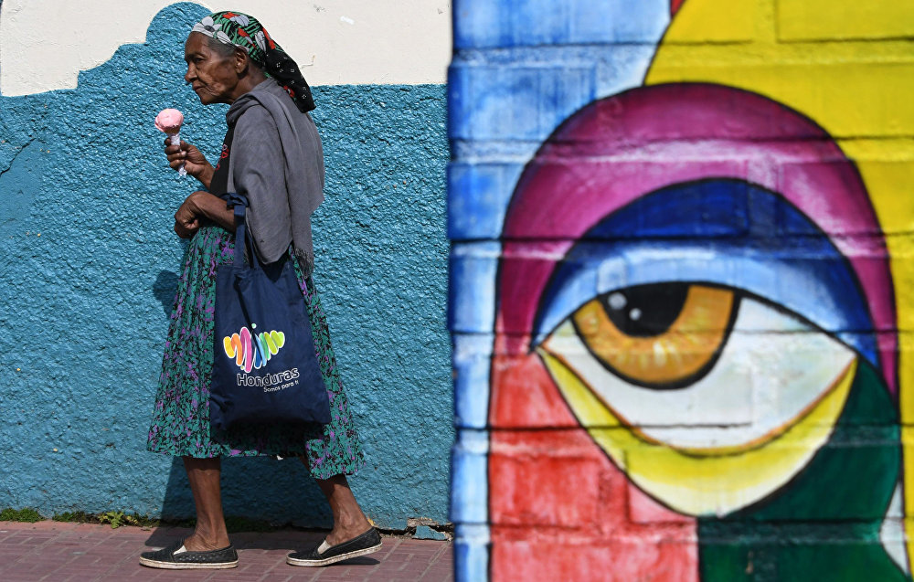 Гондурастын борборундагы Валле-де-Анхелес муниципалитетиндеги көчөлөрдүн бири
