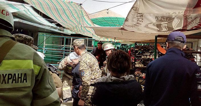 Противопожарные учения в общественных местах в Нарыне