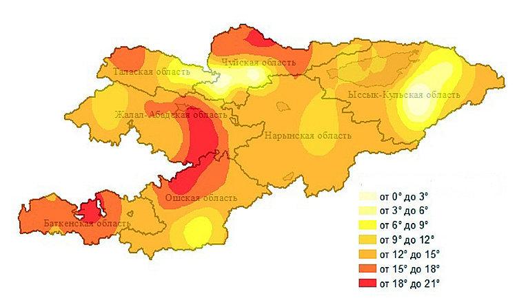 Значительное потепление ощутят жители Чуйской, Ошской, Джалал-Абадской и Баткенской областей