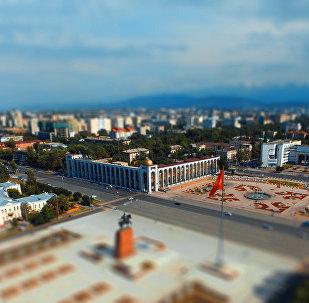 Бишкектеги Ала-Тоо аянтына көрүнүш. Архивдик сүрөт