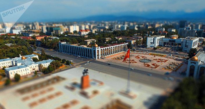 Бишкек шаарынын Ала-Тоо аянты. Архивдик сүрөт
