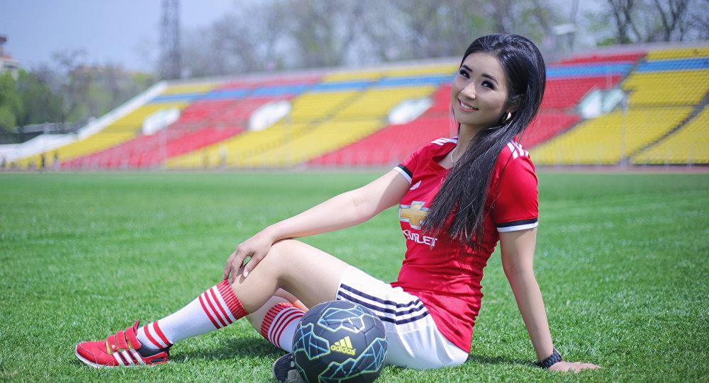Победительница конкурса Мисс футбол — 2018 Нарис Оморова