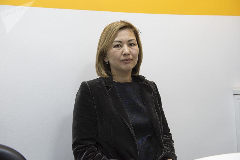 Депутат ЖК Махабат Мавлянова в редакции Sputnik Кыргызстан