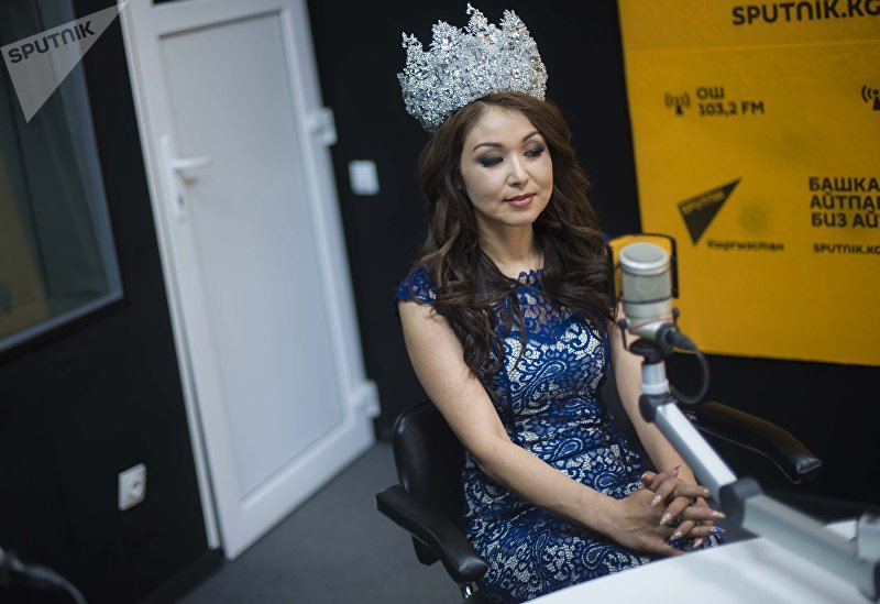 Миссис мира — 2018 Сания Шакирова во время интервью корреспонденту Sputnik Кыргызстан