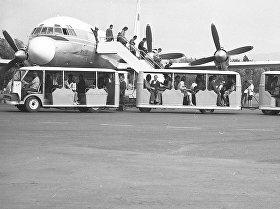Архивные кадры международного аэропорта Манас