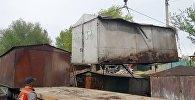 Бишкектеги Чыгыш-5 кичирайонунда 348 гараж алынды