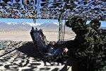 Военнослужащие российской армии во время совместных тактических учений коллективных сил быстрого реагирования (КСБР)в Кыргызстане. Архивное фото