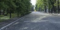 Отрезок дороги проспекта Эркиндик от проспекта Чуй до улицы Киевской заасфальтировали