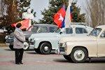 Сейрек кездешкен ГАЗ-20 (Победа) үлгүсүндөгү автоунаа менен жүргөн медиаэкспедиция. Архивдик сүрөт