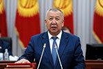 Биринчи вице-премьер Кубатбек Боронов. Архивдик сүрөтү