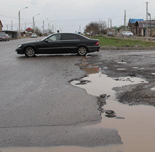 Состояние Бишкекских дорог, отремонтированных в прошлом году