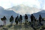 Бойцы-моджахеды в Афганистане.