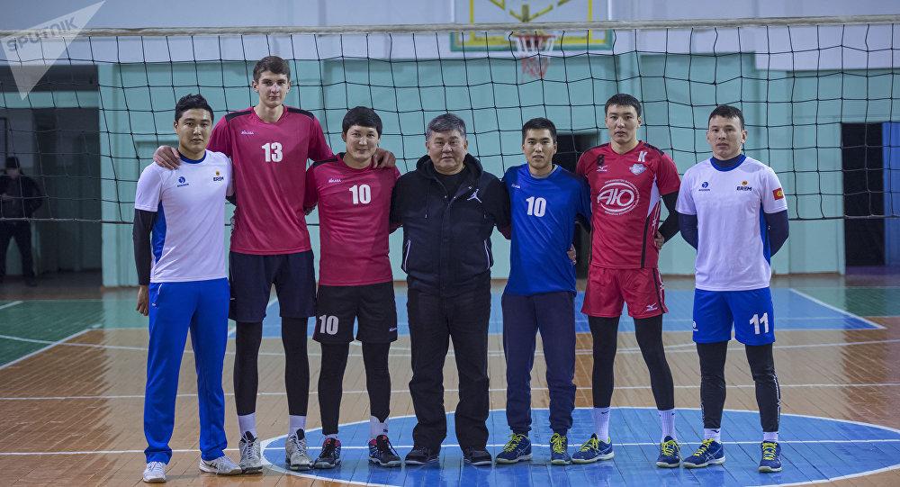 Мужская сборная Кыргызстана по волейболу. Архивное фото
