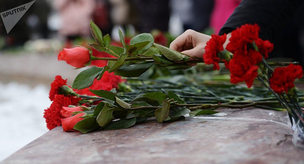 Цветы на похоронах. Архивное фото