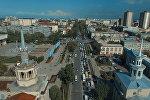 Bishkek Park курчоого алынып, оңбогондой автотыгын жаралды. Асмандан көрүнүшү