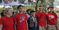 На Бишкекском братском кладбище проходит акция в память о воинах, пропавших без вести во время Великой Отечественной войны