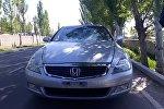 Автомобиль на котором был совершен наезд на пешехода в селе Ленинском на автодороге Бишкек — Кордай
