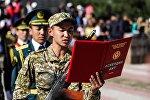 Новобранцы призыва Весна-2018 войсковой части 702 на церемонии принесения присяги