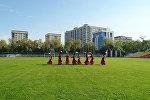 Кыздардын борбордук стадиондогу бийи. Бишкектин 140 жылдыгына белек