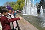 Открытие фонтана в Караколе