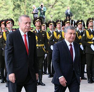 Өзбекстан жана Түркия президенттери Шавкат Мирзиёев менен Режеп Тайип Эрдоган
