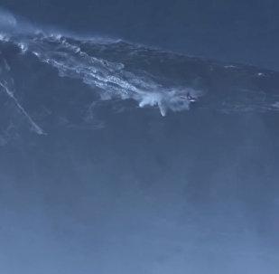 Серфер покорил волну, высотой с девятиэтажку и установил рекорд — видеоа