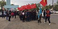 Ученики школы имени Чингиза Айтматова села Новопавловка провели марш в Сокулукском районе