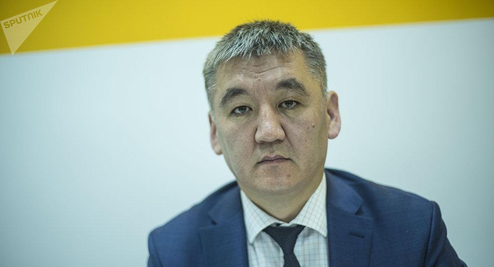 Билим берүү жана илим министринин орун басары Кудайберди Кожобеков. Архив