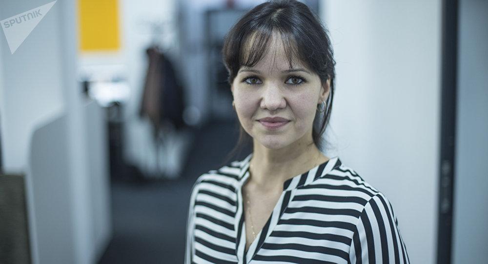 Известная шахматистка, мастер спорта и чемпион Кыргызстана Александра Самаганова