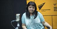 Врач по общей гигиене Департамента профилактики заболеваний и санитарно-эпидемиологического надзора при Минздраве КР Гульнара Сарыева во время интервью на радиостудии Sputnik Кыргызстан