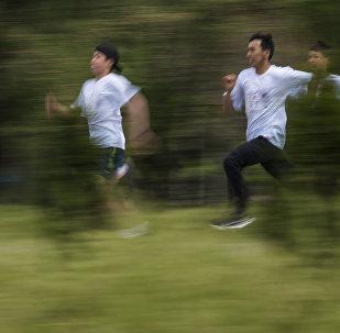 Детский забег Fun Run  в парке Победы. Архивное фото
