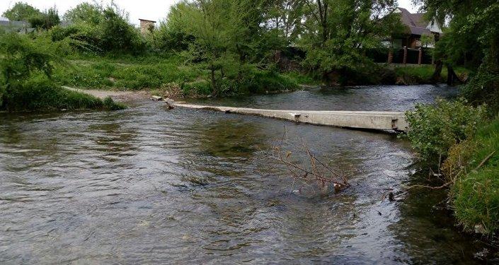 Анын айтымында, Рихард Зорг көчөсүндөгү каналдагы сууга көп жылдан бери көпүрө катары жөн эле тактайлар колдонулуп келет