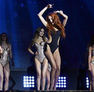 Участницы финала конкурса красоты Mrs&Ms Russia Earth 2018 в банкетном зале Мир.