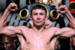Известный казахстанский боксер Геннадий Головкин. Архивное фото