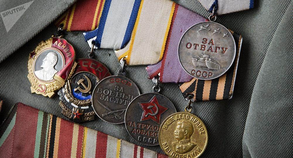 Награды ветерана ВОВ. Архивное фото