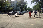 Ремонт дороги на участке проспекта Жибек Жолу