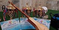 Петр Шубин атындагы борбордук балдар музыкалык мектебинин үч окуучусу Казакстандын Алматы шаарында өткөн Бакытты елдин урпагы аттуу эл аралык кароо-сынакта баш байгени багындырды