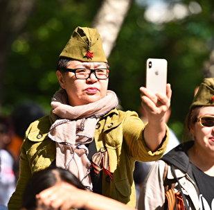 Марш Бессмертный полк в Бишкеке