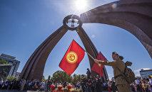 Празднование Дня победы в Бишкеке. Архивное фото