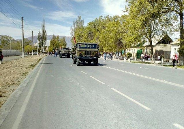 Праздничное шествие ко дню 73-й годовщины Дня Победы в Нарыне