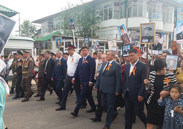 Праздничное шествие ко дню 73-й годовщины Дня Победы в Джалал-Абаде